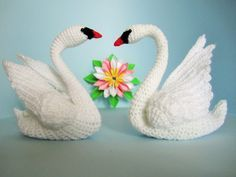 Crochet, Knitting Archives - with own hands . Crochet Birds, Crochet Animals, Crochet Crafts, Crochet Dolls, Crochet Projects, Irish Crochet, Free Crochet, Knit Crochet, Swan Wings