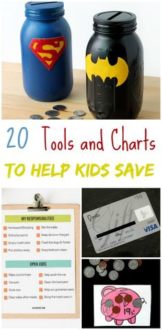 It's important to teach kids about smart finances - including saving. To make it a bit more fun, here are 20 Tools & Charts to Help Kids Save Money!