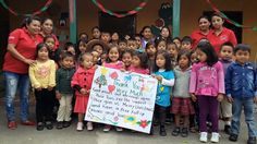Kids from Las Nubes DaycareCentre @ a coffee community.    They are the future for sustainability.