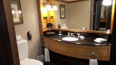 Bathroom at the Langham Auckland Hotel in New Zealand New Zealand Hotels, Auckland, Family Travel, Mirror, Bathroom, Blog, Furniture, Home Decor, Family Trips