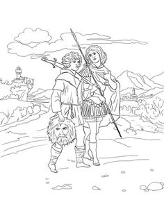 coloring pages david and jonathan-#12