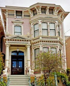 Mission District Victorian Row San Francisco,Ca