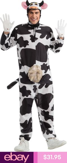 Be the star of your comedy hour in this comical cow costume. The funny cow costume features white and black dairy cow jumpsuit that features rubber udders and Funny Costumes, Animal Costumes, Adult Costumes, Funniest Costumes, Farm Costumes, Cow Halloween Costume, Adult Halloween, Comic Costume, Halloween 2013