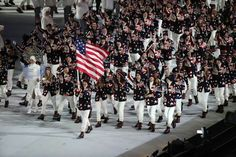 I love when Team USA enters. At my house we get hyped! I love the Olympics. Love Team USA!