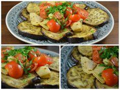 Bei den Münchner Küchenexperimenten gabs Mittags einen Auberginen-Artischocken-Salat. Hört sich nicht nur lecker an, schaut auch toll aus!