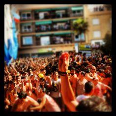 Summer- The fight in Buñol. La Tomatina 2012.