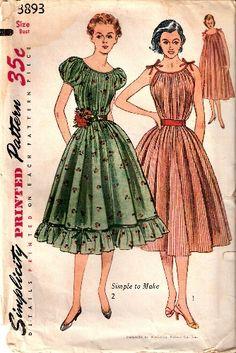 Simplicity 3893 peasant dress