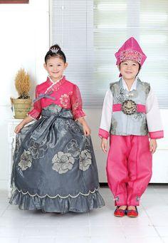 Beautiful girl's modern Korean Hanbok