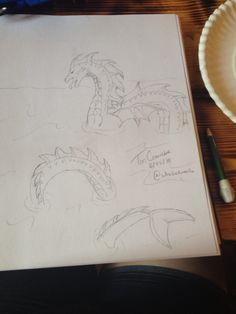 Sea monster I drew for my nephew
