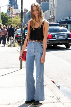 Denim everywhere!! check out my new blog post on flare jeans! Tilda Lindstam NYC.