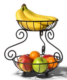 Spectrum Diversified Designs, Inc black scroll two-tier fruit server on Zulily.
