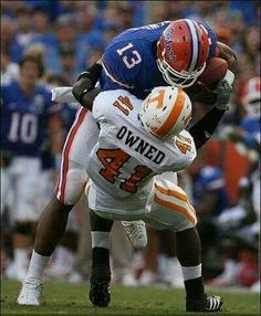 OWNED by the Gators! College Football Players, Nfl Football, Football Helmets, Florida Gators Softball, Fan, Dolphins, Sports, Legends, Cheer
