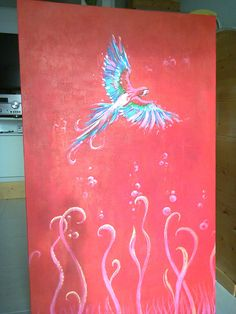 """Just finished this. it's called """"Red Painting""""."""