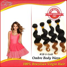 Queen Brazilian Ombre hair extensions body wave 5 bundles lot Two Tone Color 12''-30'' human hair extensions ombre virgin hair $139.25 - 316.25