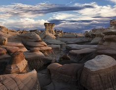 bisti badlands, new mexico  This one will require some hiking in the desert, but I want to see this bizarre landscape in person.