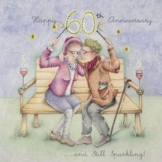 A Sparkling Diamind Anniversary Card! Happy 60th Birthday, Birthday Greetings, Birthday Wishes, Birthday Cards, Happy Anniversary Wishes, 60 Wedding Anniversary, Creation Photo, Crazy Friends, Funny Cards