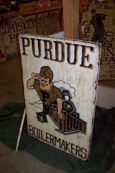Purdue sign. Cool website to use for Purdue themed bar