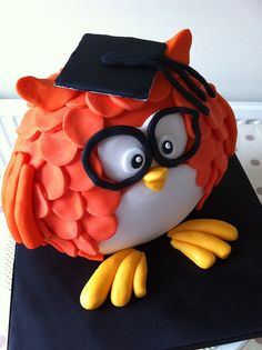 This is more like the owls I have made in the past, not sure if it will work with my 3 tier jaffa cake though..........