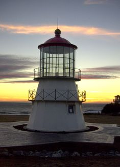 Cape Mendocino Lighthouse At Sunset   California
