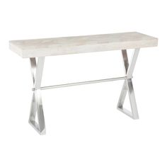 Wood and Steel Console Table   ACHICA