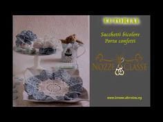 Centrino bicolore - bomboniera all uncinetto tutorial 3/3 - YouTube 3, Pandora, Crochet Hats, Youtube, Needlepoint, Knitting Hats