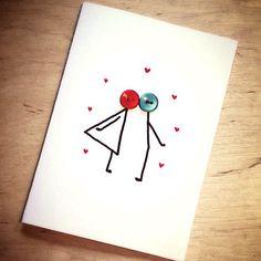 Valentin Napi képeslap, Naptár, képeslap, album, Esküvő, Képeslap, levélpapír, Meghívó, ültetőkártya, köszönőajándék, Varrás, Papírművészet, Meska Rustic Wedding, Wedding Decorations, Diy, Bricolage, Wedding Decor, Do It Yourself, Homemade, Diys, Crafting