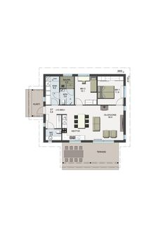 Small House Plans, Sims, Floor Plans, Cottage, How To Plan, Little House Plans, Tiny House Plans, Mantle, Cottages