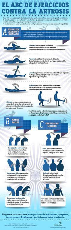 #infografia El ABC de ejercicios contra la #artrosis