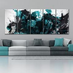 Alexis Bueno 'Painted Petals IV-B' Canvas Wall Art Set - Overstock Shopping - Top Rated Canvas 5 Piece Canvas Art, Diy Canvas Art, Multi Canvas Painting, Multi Canvas Art, Acrylic Paintings, Painting Art, Canvas Prints, Wall Decor Set, Wall Art Sets
