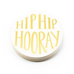 Hooray for celebration coasters! Some practical party decor.