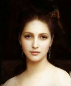 Aphrodite, detail, by William-Adolphe Bouguereau, 1825 - 1905. Above is a misattribution......this is a digital creation by Askar of Deviantart.