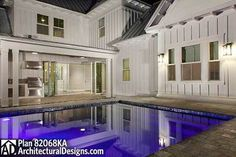 Plan 82068KA: Two Master Suites And Outdoor Living