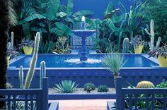 "jardin majorelle gardens morocco | ... : Moroccan ""Majorelle"" Blue--Jardin Majorelle in Marrakesh"