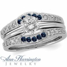 wraps/guards for marquise solitaire | 14k White Gold 1/3 ct tw Diamond and Genuine Blue Sapphire Antique ...