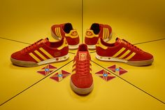 7cdf3e00a adidas Originals Archive Kegler Super Red Yellow size  Exclusive Casual  Sneakers