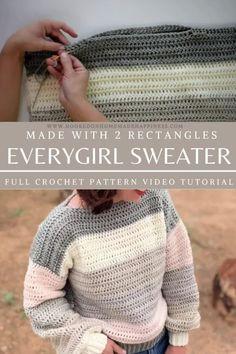Pull Crochet, Mode Crochet, Knit Crochet, Crochet Braid, Crochet Shawl, Crochet Toddler Sweater, Diy Crochet Sweater, Easy Crochet Socks, Crochet Jumpers