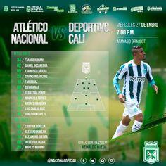 Titulares y emergentes para el partido de esta noche vs Deportivo Cali #VamosCampeón