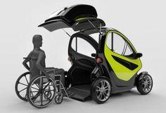 Wheelchair accessible electric concept car. #wheelchair #EV #ElectricCar