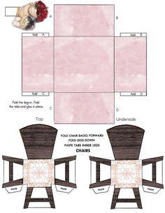 paper chair   Paper Crafts – Interior Model – Kitchen