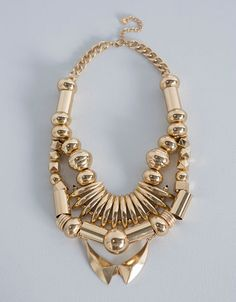 Tribal necklace #blingbling #statement #BershkaAccessories