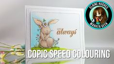 Copic Colouring: Stamping Bella Woodsies Bedelia Bunny (speed colouring)