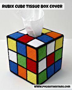 Polish The Stars: Rubix Cube Tissue Box Cover