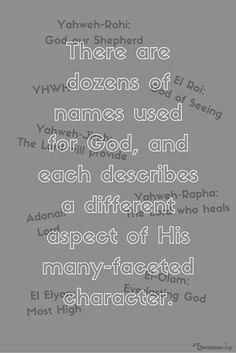 Names of god names of god pinterest what are the different names of god and what do they mean why does god ccuart