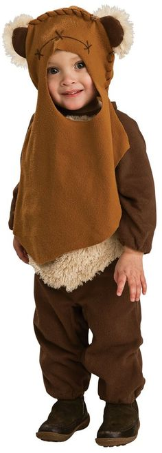 Star Wars - Ewok Infant / Toddler Costume Includes: Jumpsuit, Hood. Does not include boots. Weight (lbs) 0.53 Length (inches) 14.5 Width (inches) 11.5 Height(inches) 1