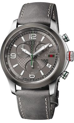 Gucci Watch , Gucci Men's YA126242 Gucci Timeless Diamond Pattern Anthracite Dial Watch