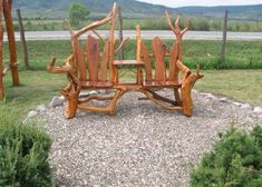 Furniture, Inspiring Rustic Bench Made Of Wood Aong With Beautiful Scenery Behind The Bench: Elegant rustic benches in the yard