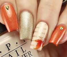 Autumn Fall Leaves Nail Art Decals Set - The most beautiful nail designs Holiday Nails, Christmas Nails, Hair And Nails, My Nails, Fall Nail Art Designs, Fall Nail Ideas Gel, Fall Pedicure Designs, Fall Nail Trends, Manicure Ideas