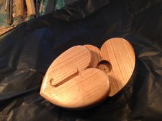 Valentines Day heart with secret place for a billet doux or gift, from £45. Up to two initials can be carved on the heart.