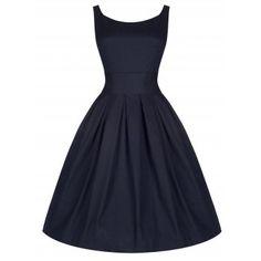 Lana Midnight Blue Swing Dress | Vintage Inspired Fashion - Lindy Bop