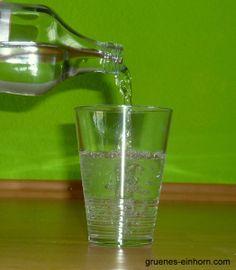 grünes einhorn: Trinkwasser
